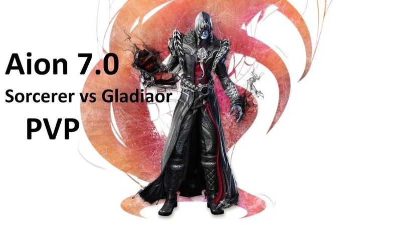 Aion 7.0 KR SiJeon Sorcerer 80 lvl vs Gladiator AOD PVP [아이온 7.0 PVP]