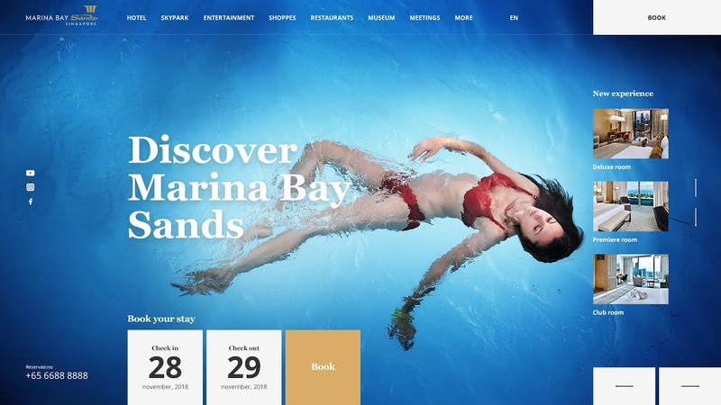 Marina Bay Sands   Web design concept   Speed Art