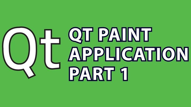 Qt Tutorial 4 : Qt Paint App