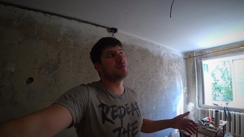 Замена проводки в комнате за 5 часов. Панельный дом. Без штробления
