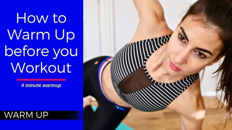 4 минутная разминка перед тренировкой How to Warm Up Before You Workout 4 Minute Warm Up Before Exercise