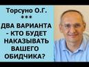Торсунов ДВА ВАРИАНТА КТО БУДЕТ НАКАЗЫВАТЬ ВАШЕГО ОБИДЧИКА