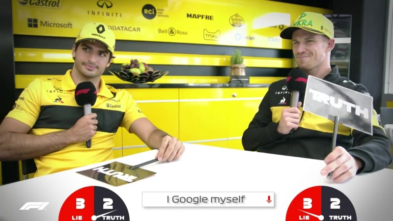 Renaults Carlos Sainz and Nico Hulkenberg _ Grill The Grid Truth Or Lie