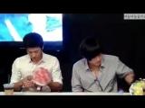 Чжи Чан Ук и Кан Ха Ныль на встрече со зрителями мюзикла «Взволнуй меня», 23.08.2010