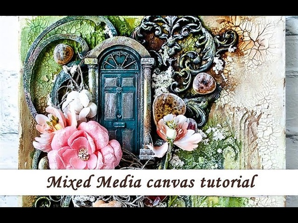 Mixed media canvas with Rust Pastes - tutorial
