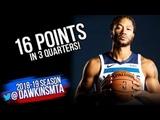 Derrick Rose Full Highlights 2018.09.29 TWolves vs Warriors - 16 Pts | FreeDawkins