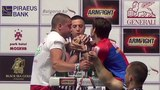 Dima YASTREB (Russia) vs Emil ASENOV (Bulgaria) - XXVIII European Armwrestling Championship 2018