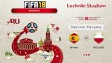 FIFA 18 Чемпионат Мира 1/2 финала Испания - Польша Симуляция
