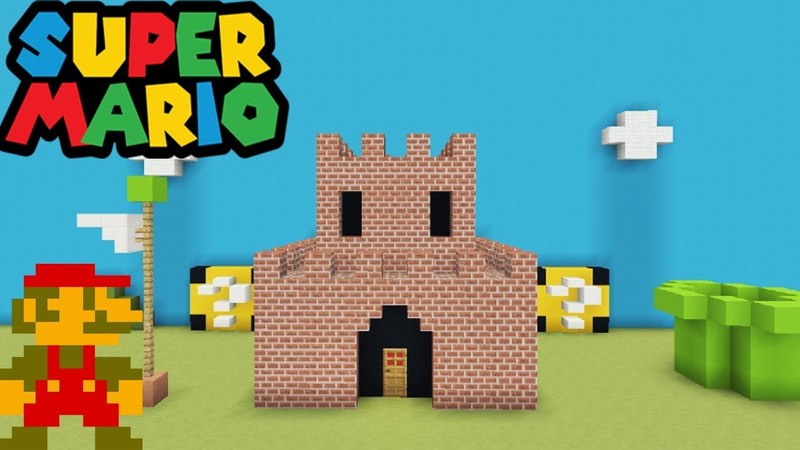 Minecraft Tutorial How To Make A Mario Castle Mario House