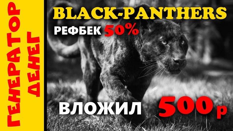 Black panthers Старт бонусника с окупаемостью в 6 дней!