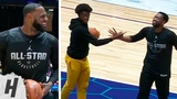 Zaire Wade Plays With His Dad Dwyane Wade &amp LeBron February 16, 2019 NBA All-Star Practice