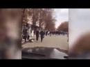 Панин на авто по пешеходной зоне Саратова