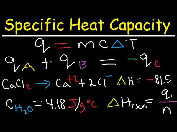 Specific Heat Capacity Problems Calculations - Chemistry Tutorial - Calorimetry