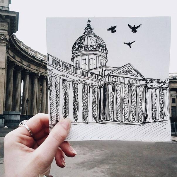 Греческом, санкт-петербург рисунок карандашом легкий