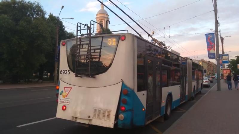 "Троллейбус, маршрут №31 ВМЗ-62151 ""Премьер"" б.6925 (16.06.2018) Санкт-Петербург"
