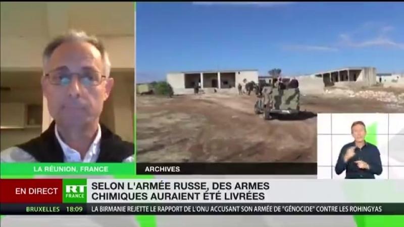 Bruno Guigue Quand ses mercenaires sont dans le pétrin l'OTAN ressort le joker attaque chimique 2min54s