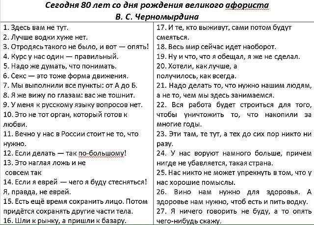 Афоризмы Черномырдина