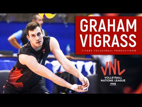 TOP 10 Best Volleyball Actions by GRAHAM VIGRASS | VNL 2018