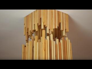 Модный светильник из старых досок от паллет. Мастер-класс от Ollaris