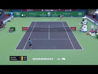 30 shots. 1 huge ALLEZ. - Gael_Monfils at his electrifying best in Shanghai