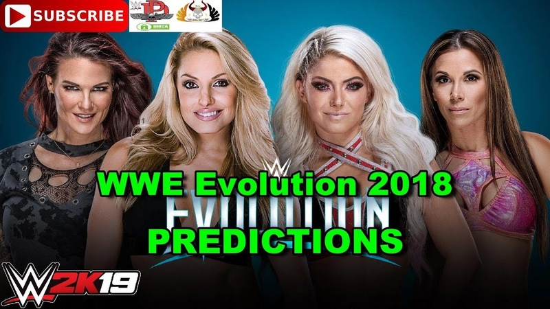 WWE Evolution 2018 Trish Stratus Lita vs Alexa Bliss Mickie James Predictions WWE 2K19