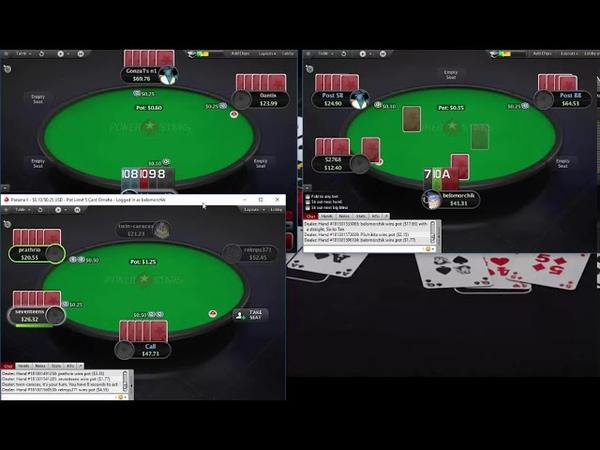 Живая сессия по Омахе ПЛО50 на ПокерСтарс! Live session PLO50 PokerStars