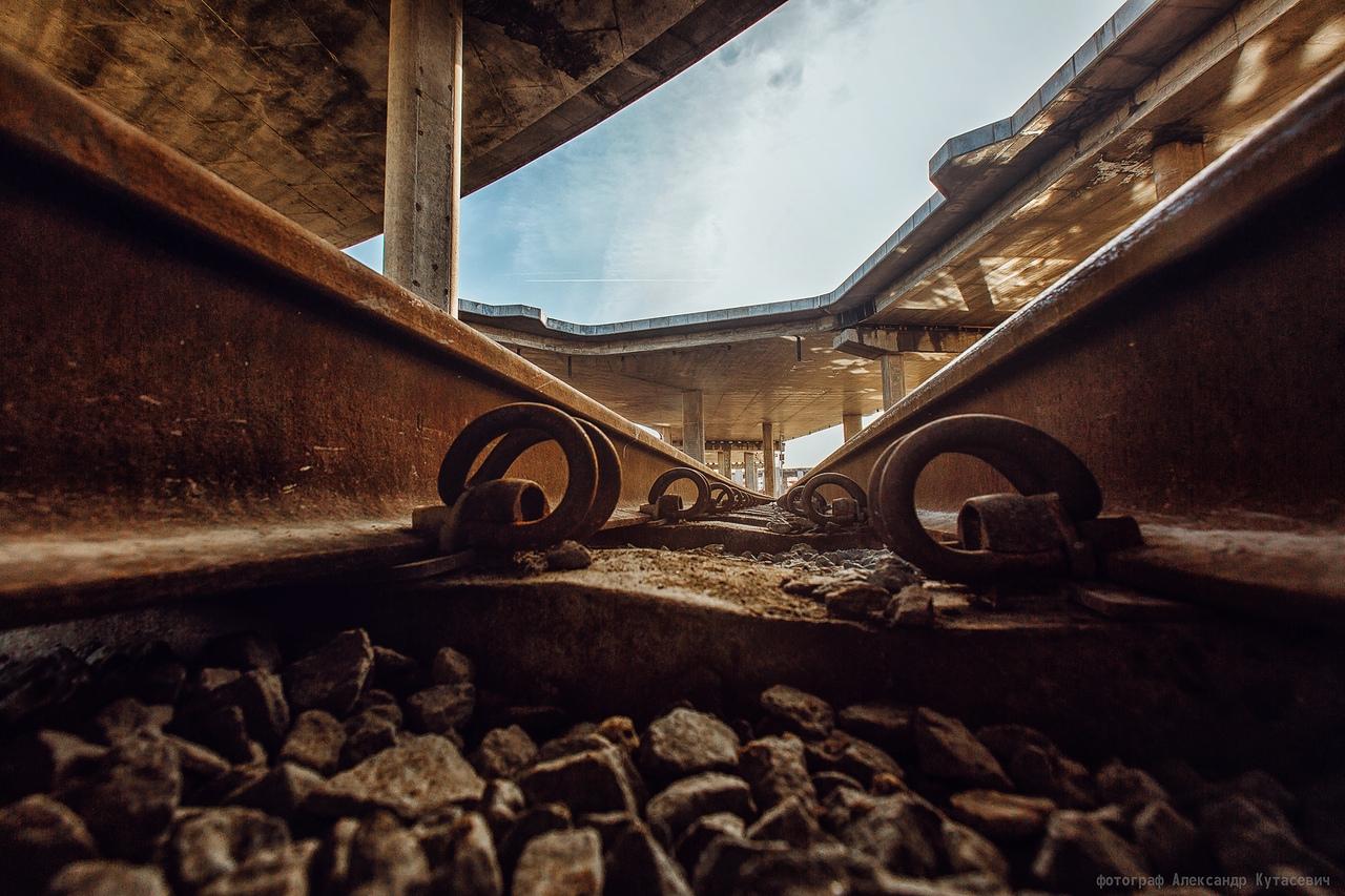 Главная стройка Бреста — «Западный обход»: взгляд из-под рельсы. Такого вы ещё не видели :-)