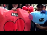 The BTSArmy is out in full force in Hollywood! Check out the line to get into the @bts_big.mp4