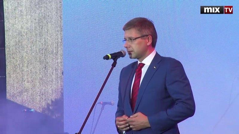 9 МАЯ в Риге. Речь мэра Риги Нила Ушакова MIXTV