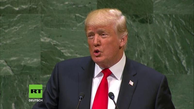 Gelächter Stirnrunzeln Terror Energie und Chemiewaffen Highlights aus Trumps UN Rede