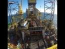 Работа нефтяной платформы