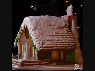 Сборка и декор пряничного домика   Больше рецептов в группе Десертомания