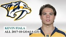 Kevin Fiala (22) All 23 Goals of the 2017-18 NHL Season