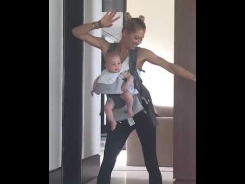 Анна Курникова танцует с дочерью Люси под песню Энрике Иглесиаса