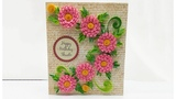 Greeting Card With Quilled Flowers Magic Quill