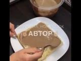 Рецепт быстрого торта из слоеного теста. Очень вкусно!