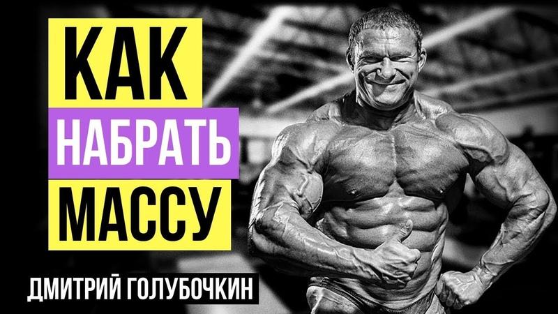 Дмитрий Голубочкин: Как набрать массу максимально быстро? Интервью для Александра Линченко