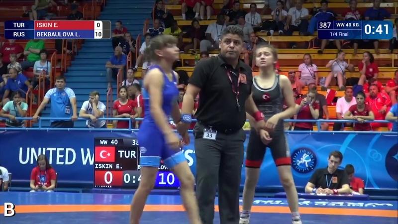 Лучана Бекбаулова чемпионка мира по спортивной борьбе среди кадетов