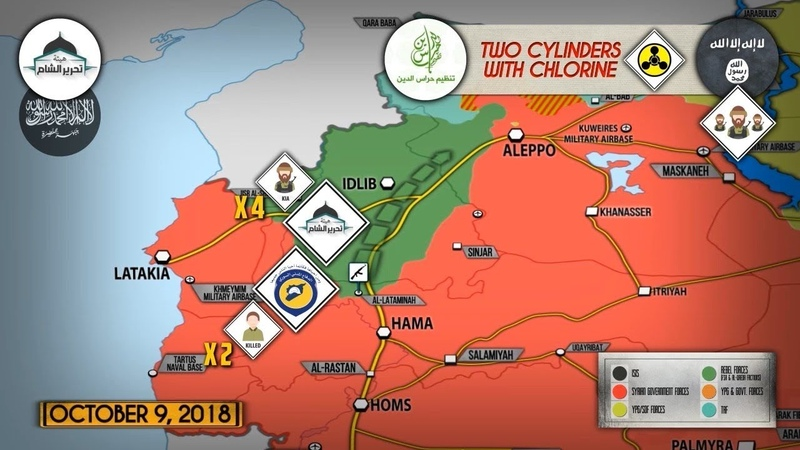 11 октября 2018 Военная обстановка в Сирии Российский ЦПВС заявил о захвате игиловцами химоружия