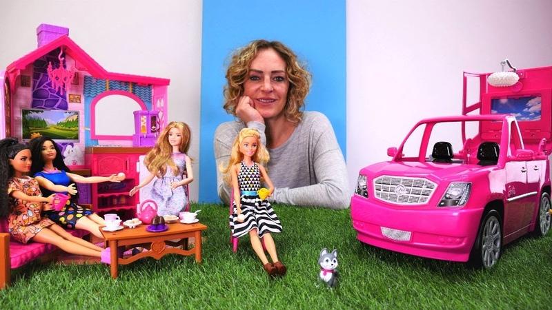 Barbie oyunları. Kır evine eşya yerleştiriyoruz. Kız videosu.
