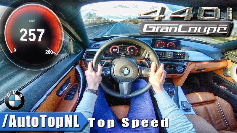 BMW 4 SERIES GRAN COUPE 440i M Sport xDrive   ACCELERATION TOP SPEED   AUTOBAHN POV by AutoTopNL