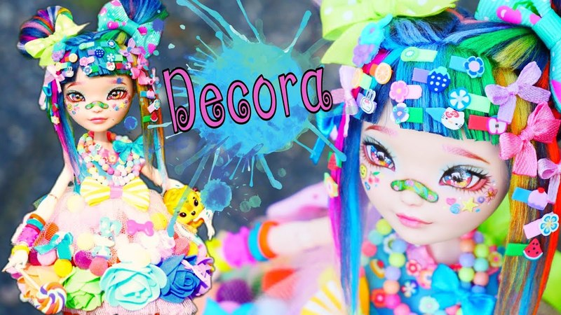 Яркий ООАК Японская уличная мода стиль ДЕКОРА OOAK Repaint Harajuku Decora Kei Girl Custom EAH Doll