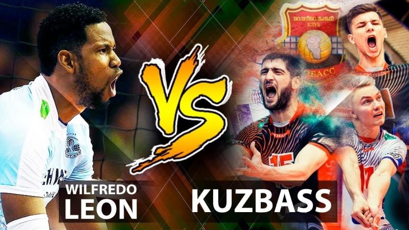 Wilfredo Leon vs Kuzbass - Russia Superliga Men Volleyball 2017-2018