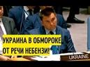 НАКИПЕЛО Небезня РАЗГРОМИЛ братскую Украину в Совбезе ООН Такого Запад ещё НЕ СЛЫШАЛ Срочно