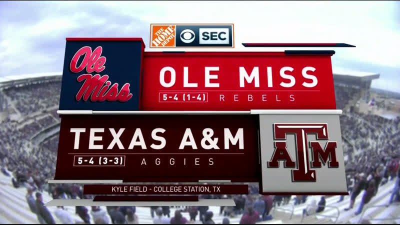 NCAAF 2018 / Week 11 / Ole Miss Rebels - Texas AM Aggies / 1H / EN