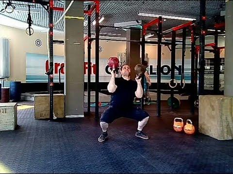 OLD TIMERS' THRUSTER Старинных атлетов напопа трастер Гири 33 5 кг и 32 кг