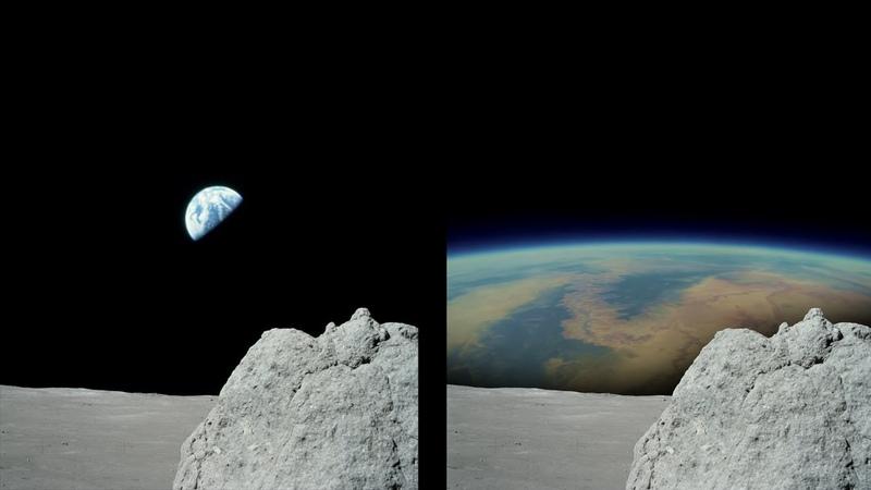 Вогнутая Земля от NASA и пропорции на Луне