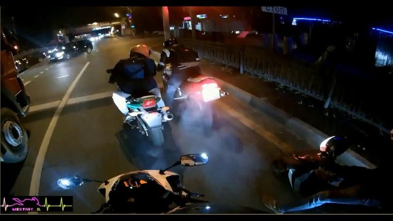 Покатались на мотоциклах Устроили Мото Драг Honda CBR 600 RR VS Suzuki GSX R 750 W