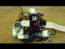 Модель сканера бумагоделательной машины из конструктора Лего. Авторы - Антон Захаров 3 отряд и Илья Ежов педагог