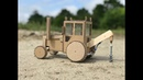 DIY tractor with mounted drilling rig - Cardboard toy